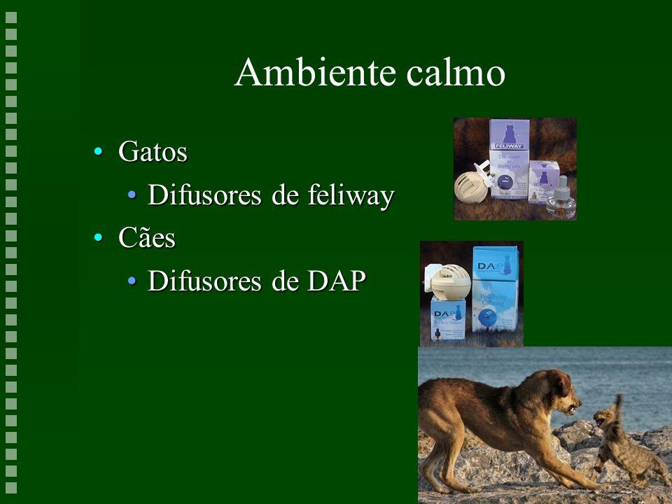 Ambiente calmo GatosGatos Difusores de feliwayDifusores de feliway CãesCães Difusores de DAPDifusores de DAP
