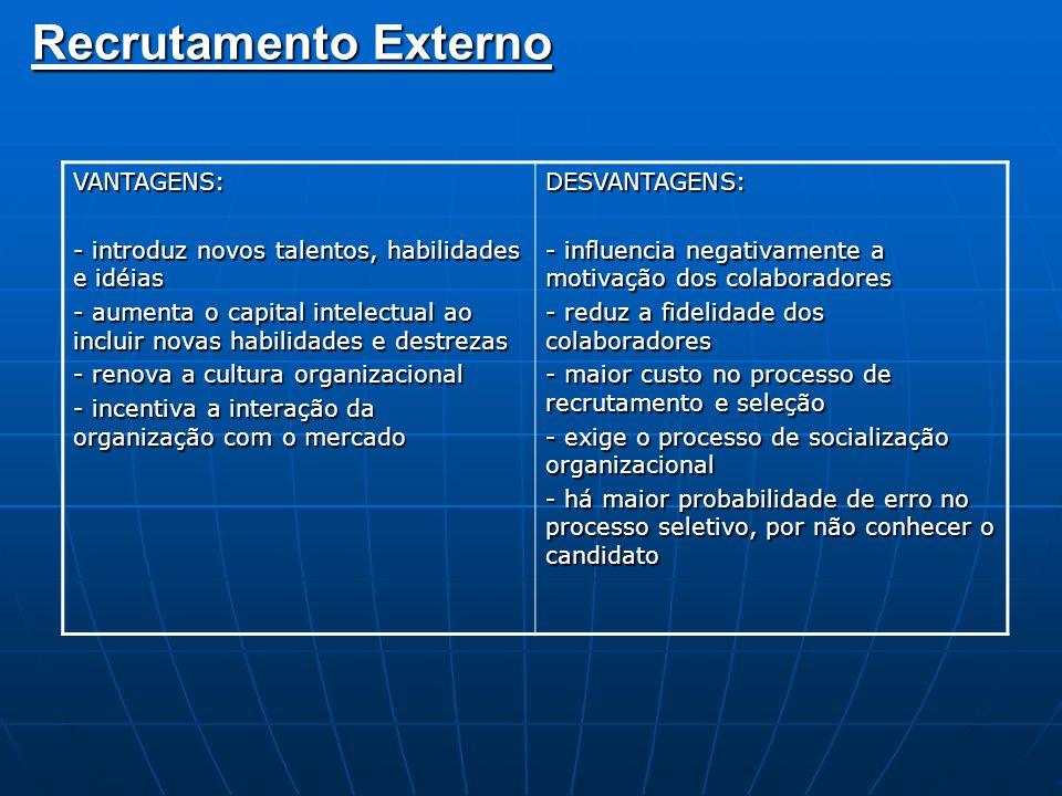 Seleção É o processo de escolha do candidato mais adequado para o cargo e para a organização.