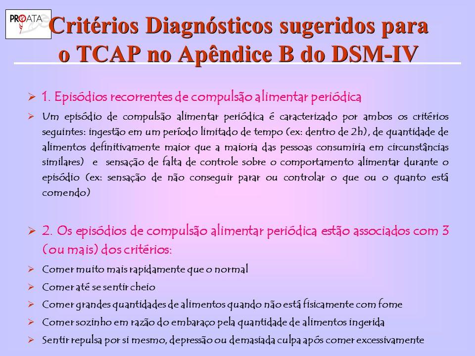 Critérios Diagnósticos sugeridos para o TCAP no Apêndice B do DSM-IV 1.