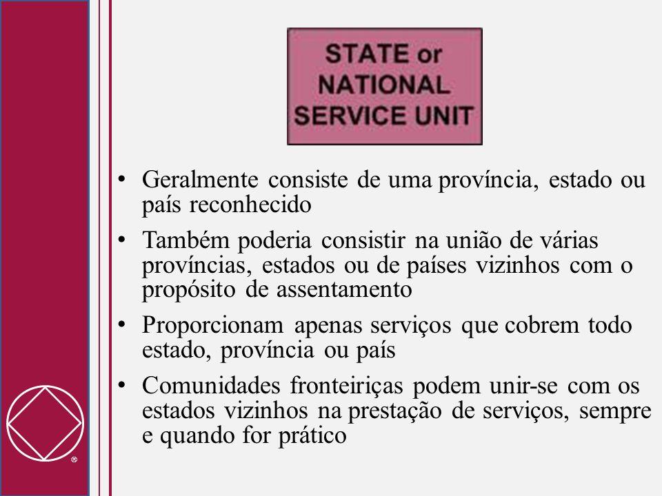 Geralmente consiste de uma província, estado ou país reconhecido Também poderia consistir na união de várias províncias, estados ou de países vizinhos