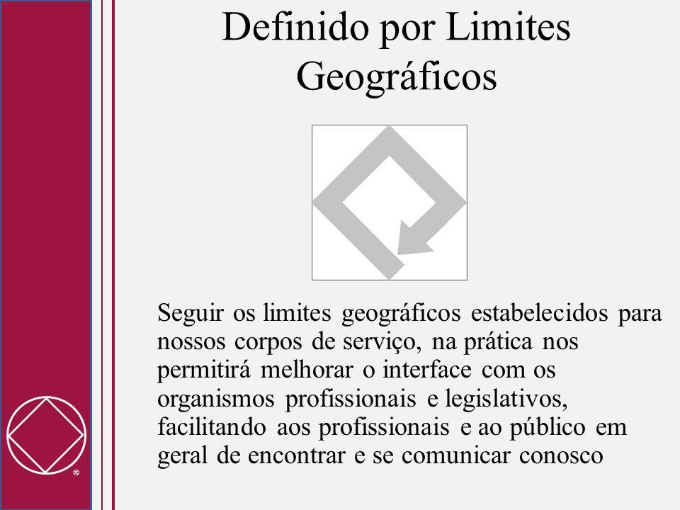 Definido por Limites Geográficos Seguir os limites geográficos estabelecidos para nossos corpos de serviço, na prática nos permitirá melhorar o interf