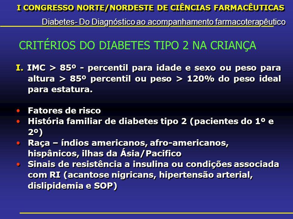 I CONGRESSO NORTE/NORDESTE DE CIÊNCIAS FARMACÊUTICAS Diabetes- Do Diagnóstico ao acompanhamento farmacoterapêutico I CONGRESSO NORTE/NORDESTE DE CIÊNCIAS FARMACÊUTICAS Diabetes- Do Diagnóstico ao acompanhamento farmacoterapêutico INCRETINAS São hormônios intestinais que são liberados na circulação após ingestão de alimentos e que estimulam a secreção de insulina.