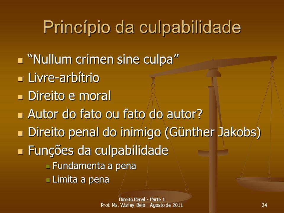 Princípio da culpabilidade Nullum crimen sine culpa Nullum crimen sine culpa Livre-arbítrio Livre-arbítrio Direito e moral Direito e moral Autor do fa