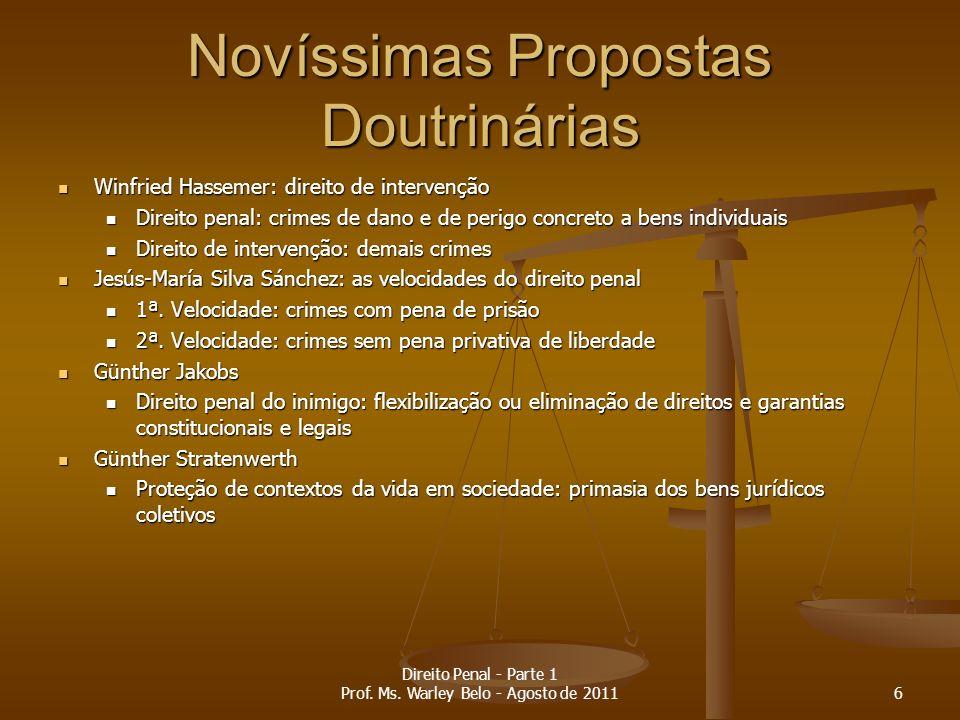 Eficácia da lei penal TempoEspaçoPrerrogativas Funcionais 37 Direito Penal - Parte 1 Prof.