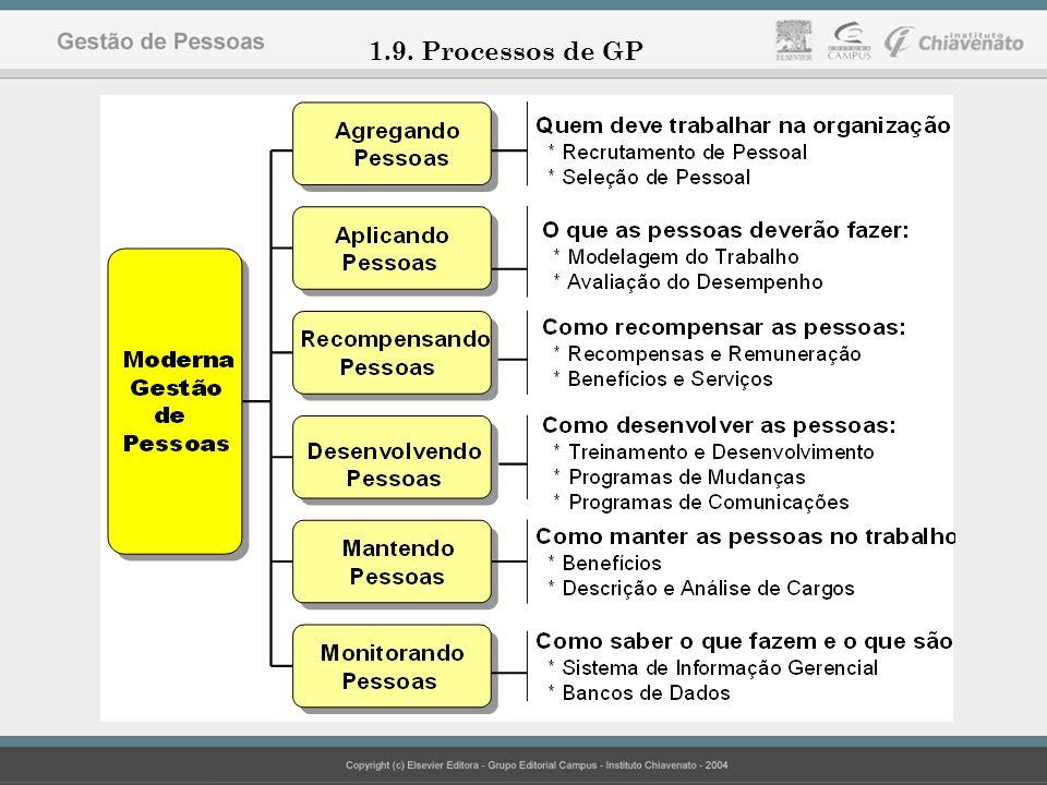 Profª MsC. Elaine Cristina Grecchi Gonçalves 1.9. Processos de GP