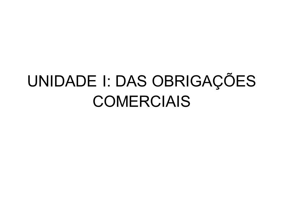 1.1.Obrigações Comerciais Conceito: A obrigação nada mais é do que uma relação jurídica.