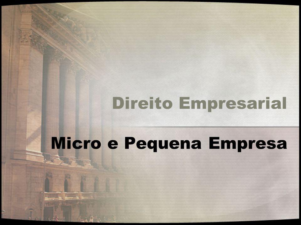Direito Empresarial Micro e Pequena Empresa