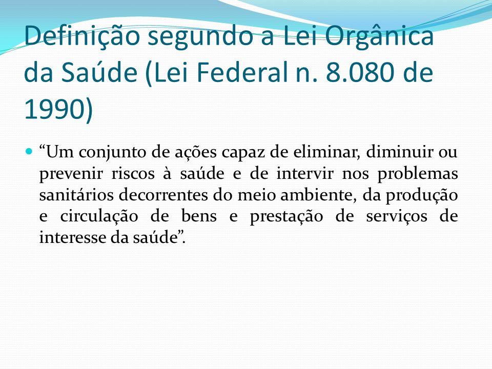 Definição segundo a Lei Orgânica da Saúde (Lei Federal n.