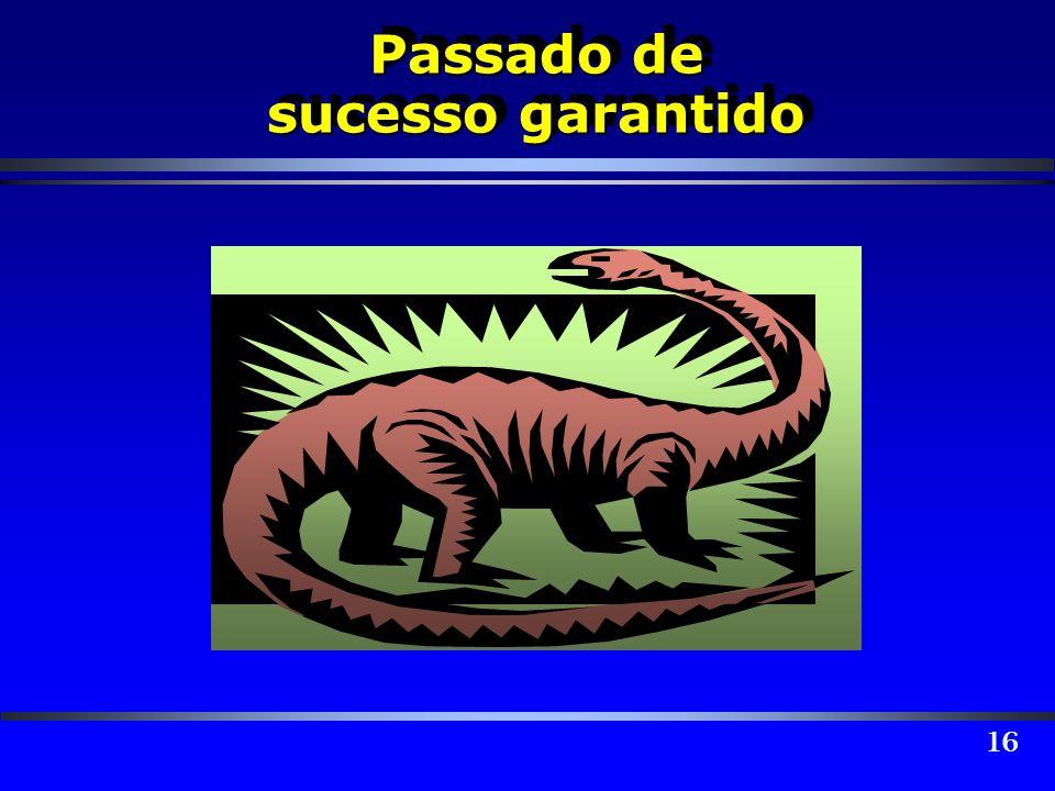 16 Passado de sucesso garantido