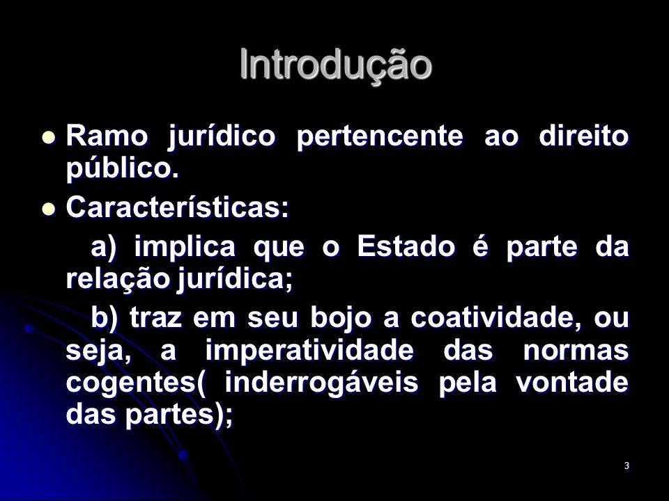 4 Introdução c) o interesse tutelado há de ser o interesse público.