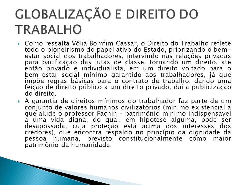 Como ressalta Vólia Bomfim Cassar, o Direito do Trabalho reflete todo o pioneirismo do papel ativo do Estado, priorizando o bem- estar social dos trab