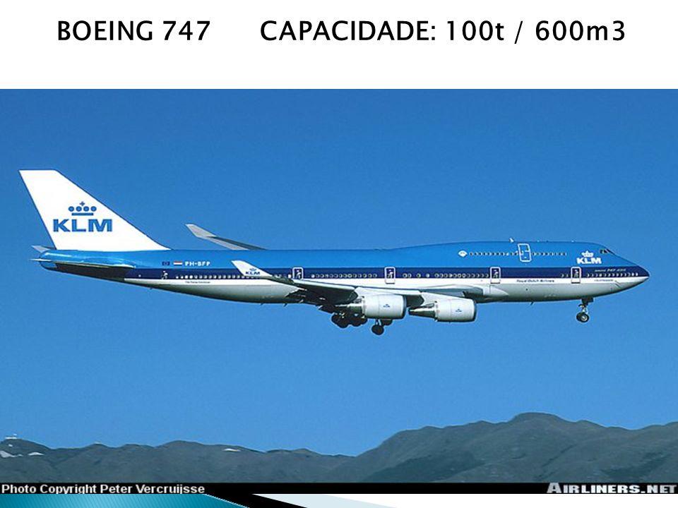 BOEING 747CAPACIDADE: 100t / 600m3