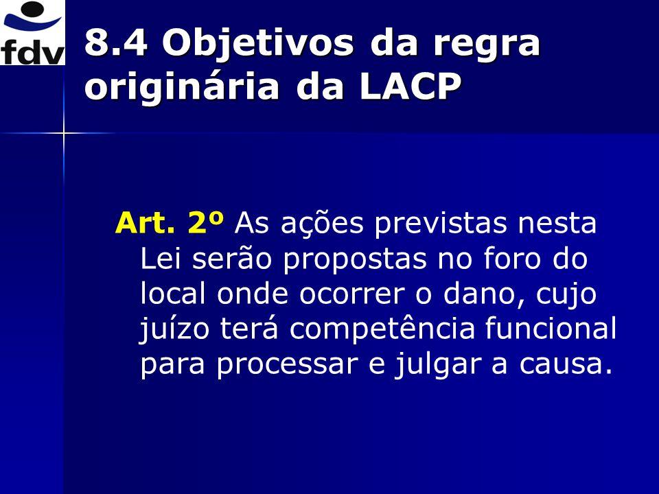 Art. 2º As ações previstas nesta Lei serão propostas no foro do local onde ocorrer o dano, cujo juízo terá competência funcional para processar e julg