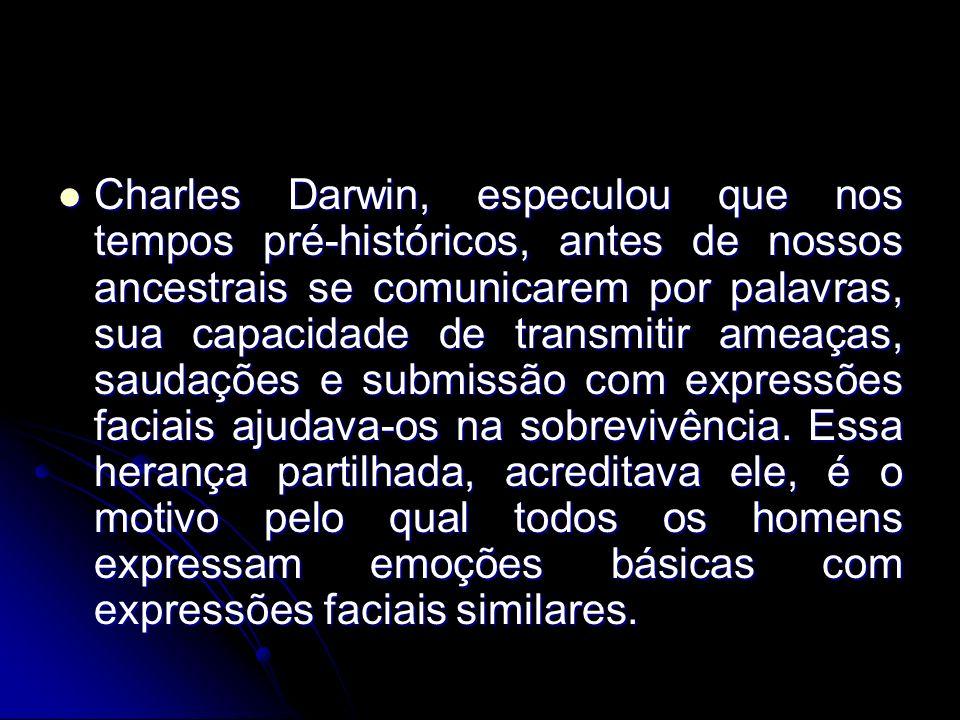 Charles Darwin, especulou que nos tempos pré-históricos, antes de nossos ancestrais se comunicarem por palavras, sua capacidade de transmitir ameaças,