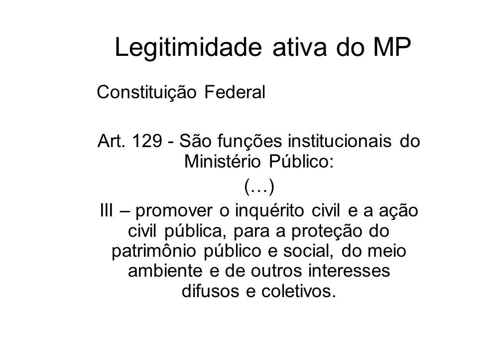Legitimação das associações esteja constituída há pelo menos 1 (um) ano nos termos da lei civil; inclua, entre suas finalidades institucionais, a prot