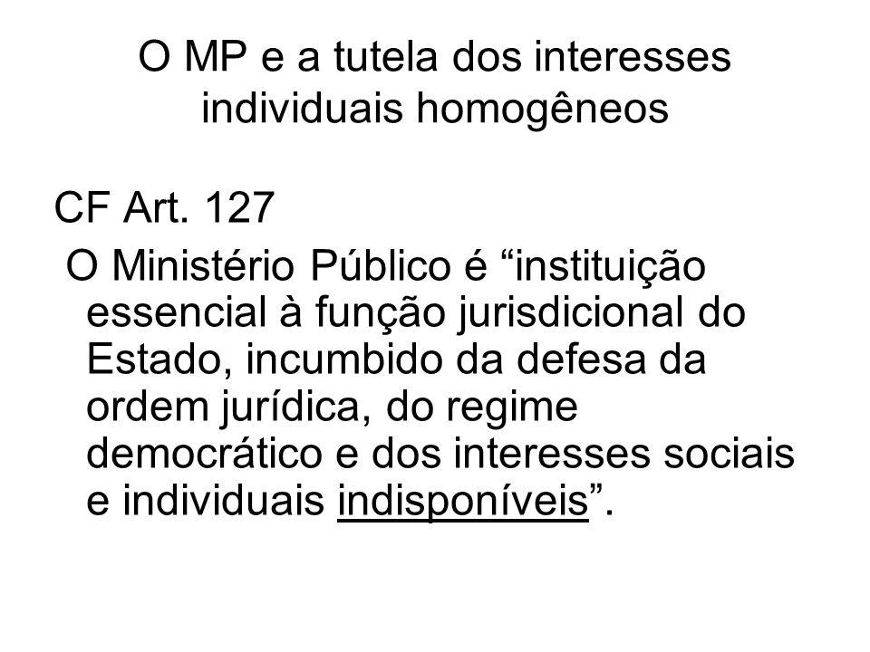 Atuação do MP na tutela coletiva Extrajudicial: Inquérito civil Compromisso de ajustamento de conduta Judicial: Ações civis públicas Custos legis