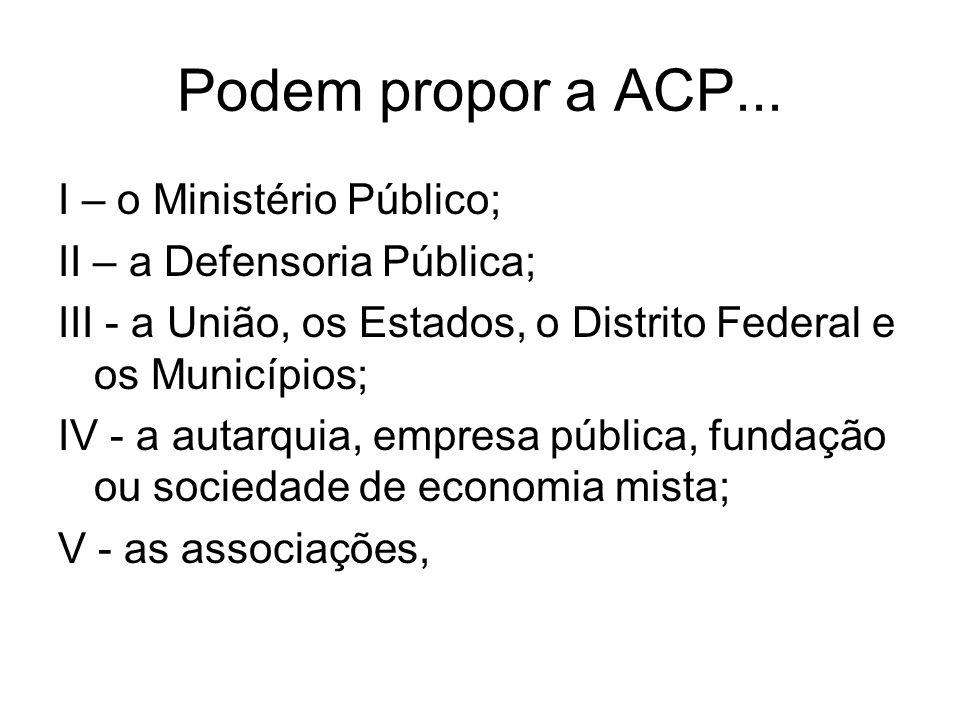 Podem propor a ACP...