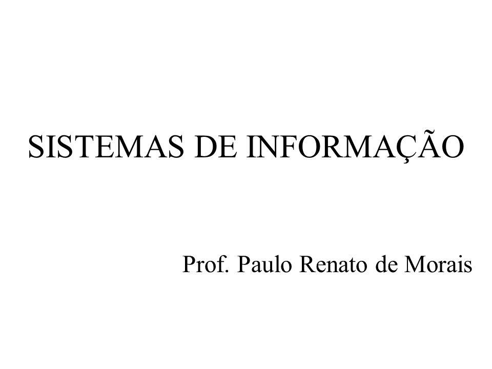 SISTEMAS DE INFORMAÇÃO Prof. Paulo Renato de Morais