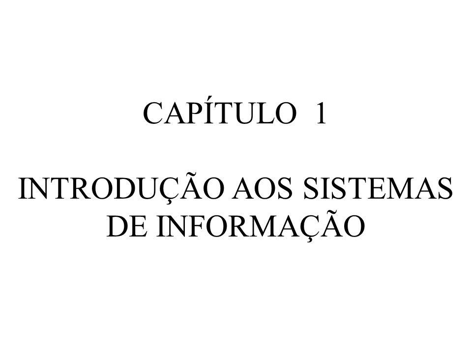 CAPÍTULO 1 INTRODUÇÃO AOS SISTEMAS DE INFORMAÇÃO