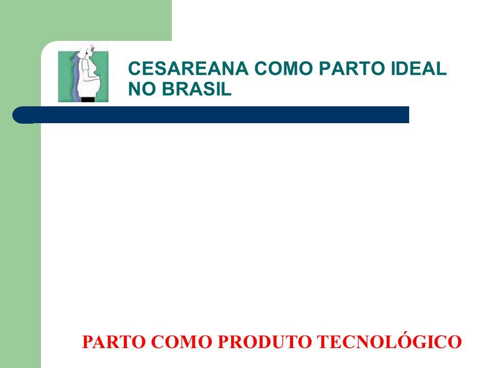 CESAREANA COMO PARTO IDEAL NO BRASIL PARTO COMO PRODUTO TECNOLÓGICO
