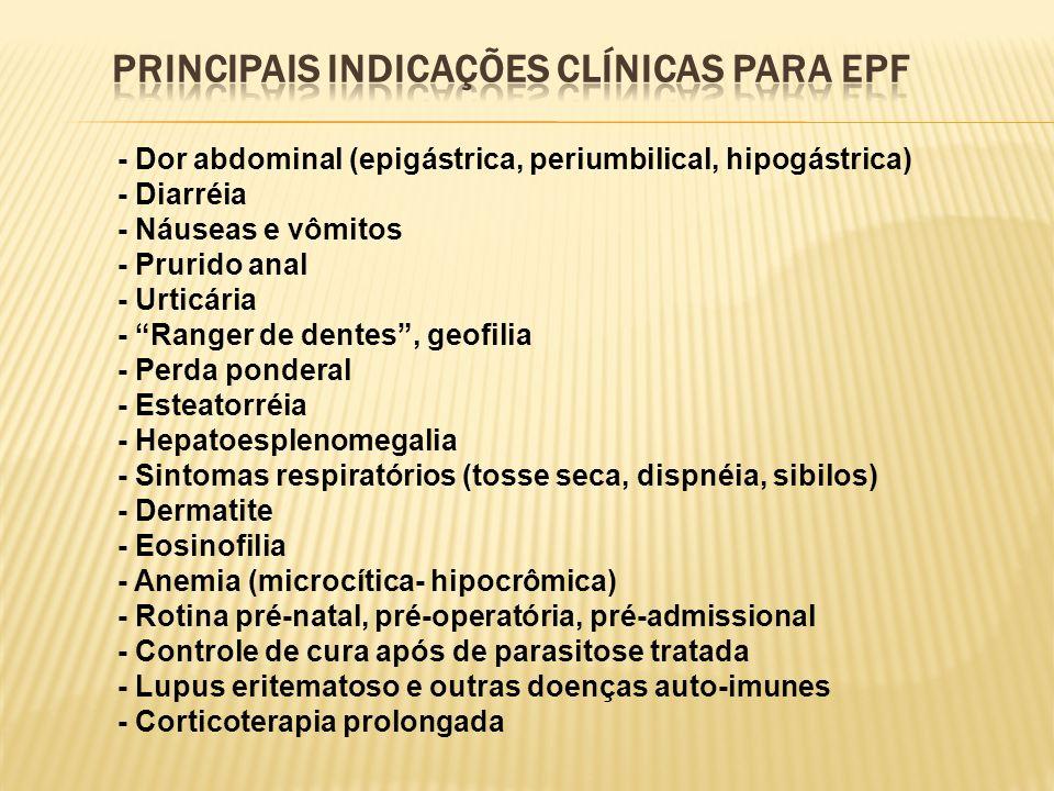 P/ José Alves Araújo Exame parasitológico de fezes (3 amostras) Indicação clínica: Estrongiloidíase.