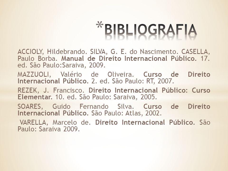ACCIOLY, Hildebrando. SILVA, G. E. do Nascimento.