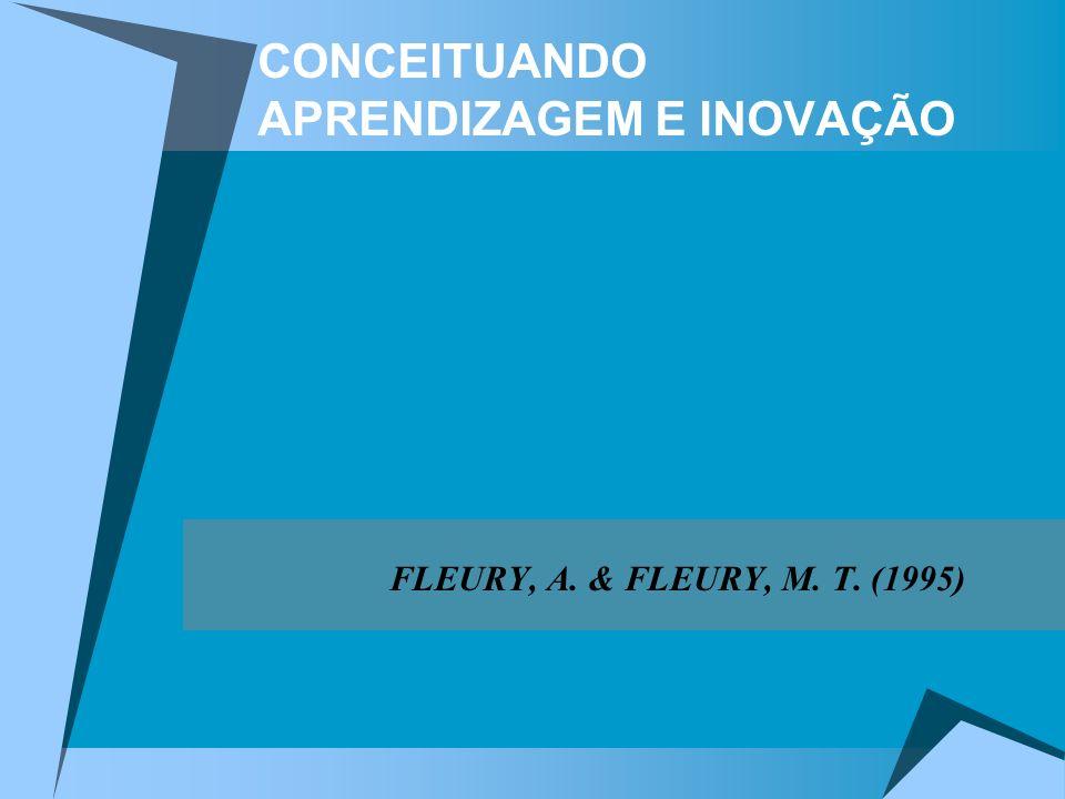 CONCEITUANDO APRENDIZAGEM E INOVAÇÃO FLEURY, A. & FLEURY, M. T. (1995)