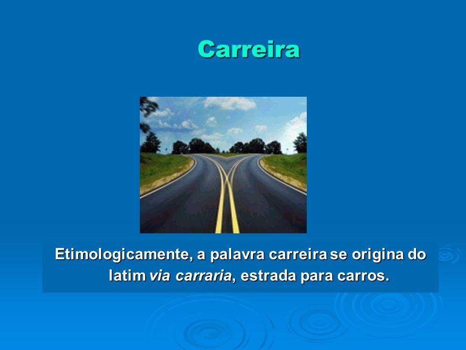 Definição de Carreira Carreira é diferente do vínculo contratual Carreira é diferente do vínculo contratual Pode ser: Pode ser: Sucessão de CargosSucessão de Cargos Processo de EscolhaProcesso de Escolha