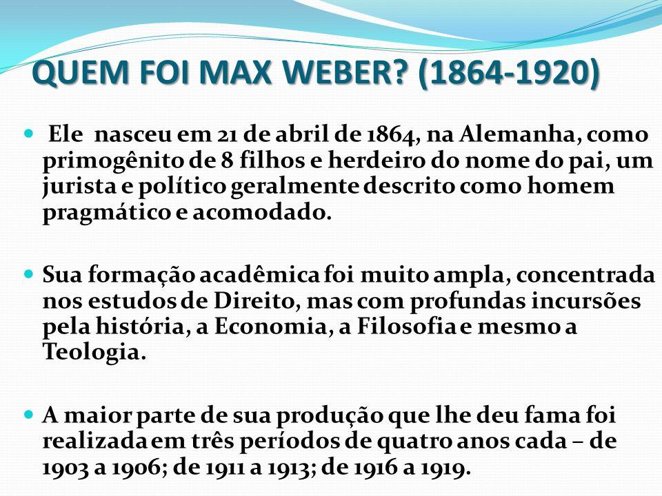 Quem foi Max Weber.