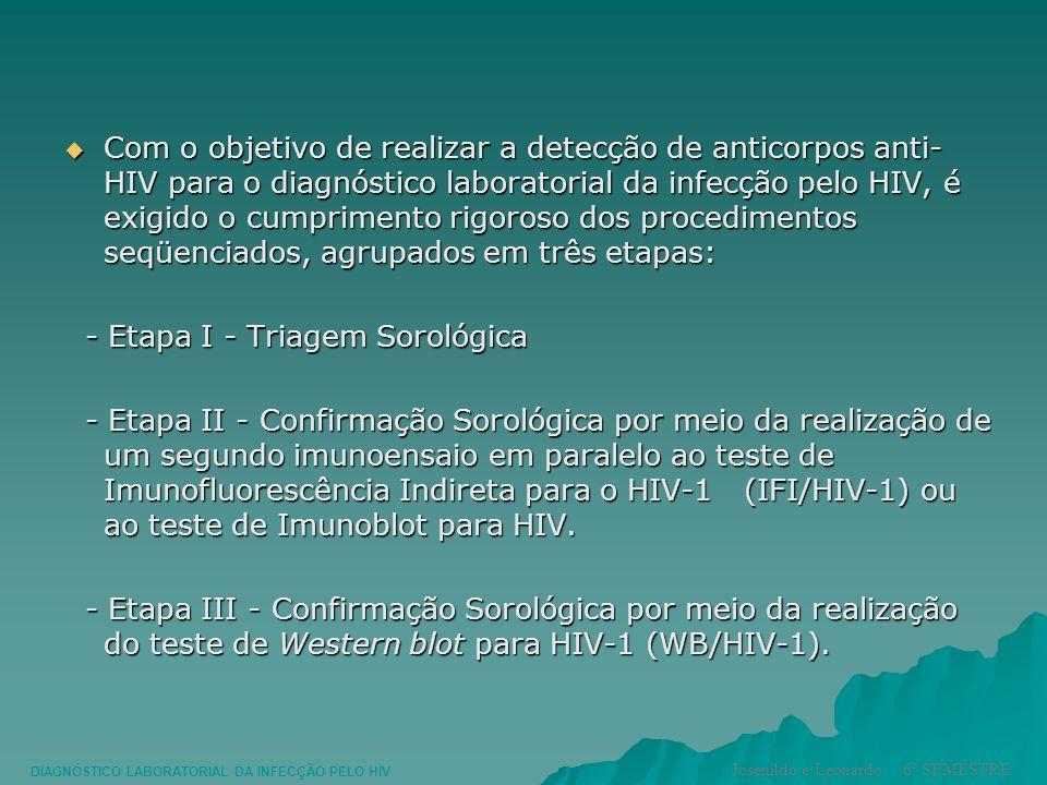 Com o objetivo de realizar a detecção de anticorpos anti- HIV para o diagnóstico laboratorial da infecção pelo HIV, é exigido o cumprimento rigoroso d