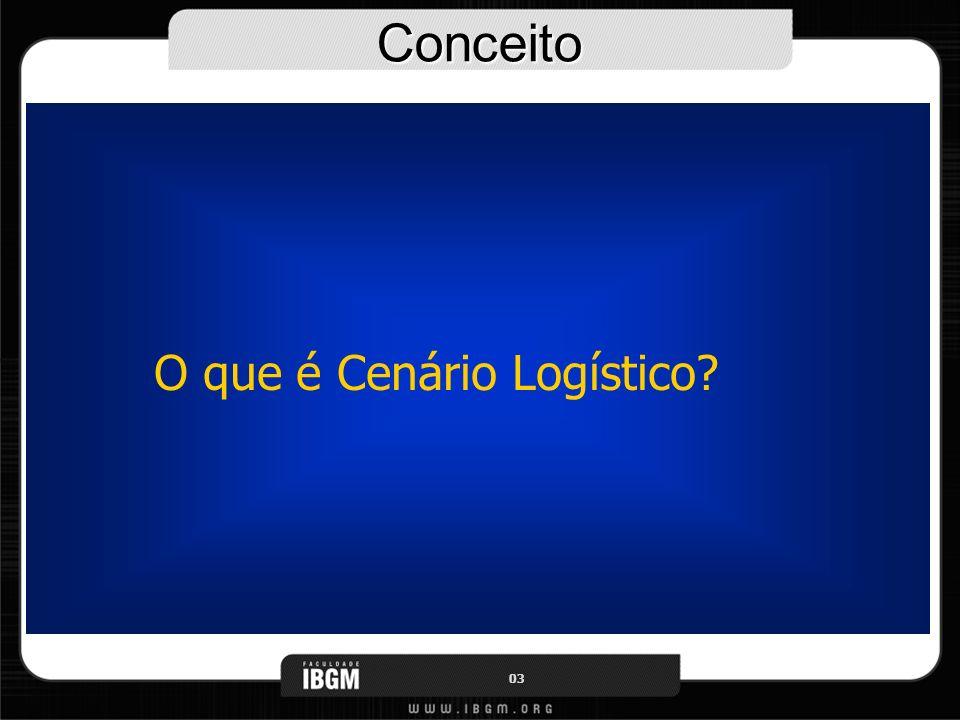 Conceito O que é Cenário Logístico? 03