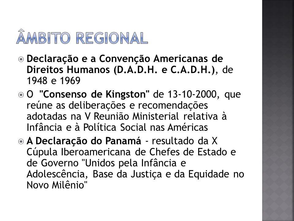 Retoma instrumentos internacionais anteriores.