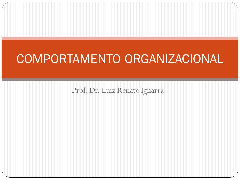 Prof. Dr. Luiz Renato Ignarra COMPORTAMENTO ORGANIZACIONAL