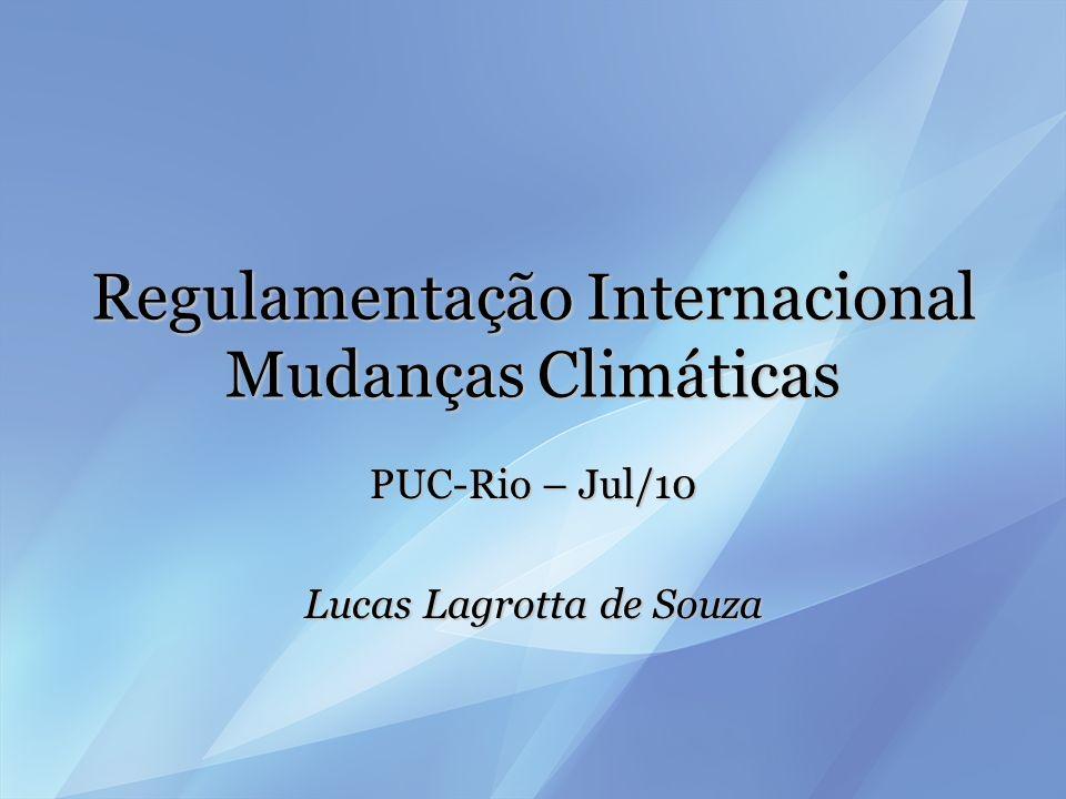 A UNFCCC e o Protocolo de Kyoto PrincípiosPrincípios –Responsabilidade Comum, mas Diferenciada –Precaução –Transferência de tecnologia –Responsabilidade intergeracional