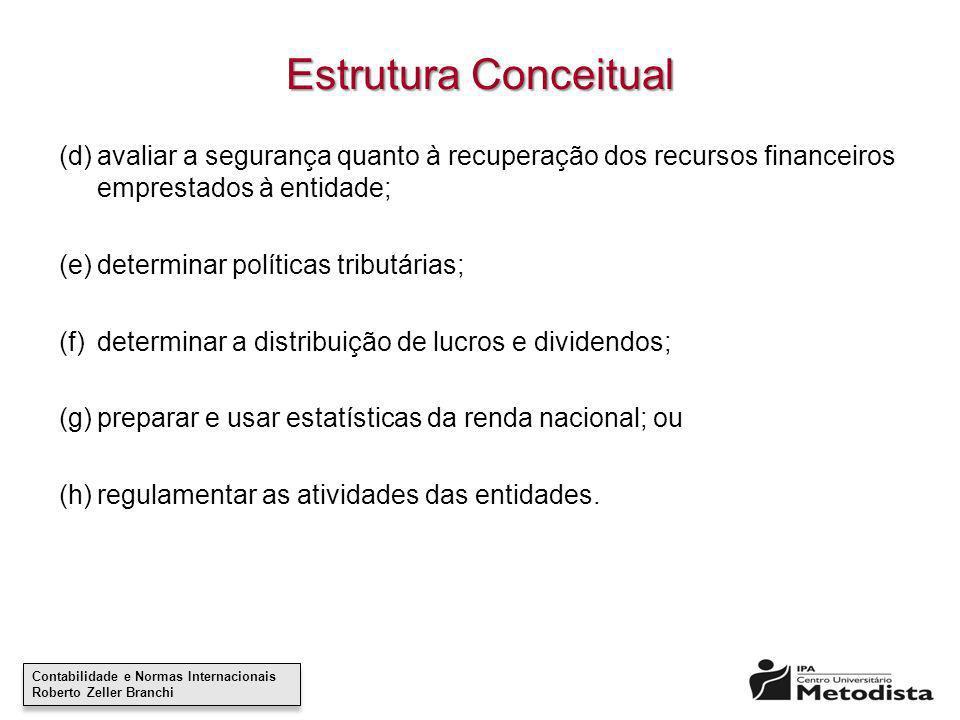 Contabilidade e Normas Internacionais Roberto Zeller Branchi Contabilidade e Normas Internacionais Roberto Zeller Branchi Estrutura Conceitual (d)aval