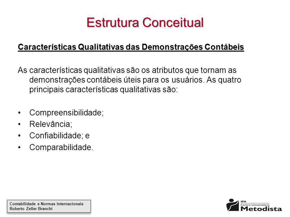 Contabilidade e Normas Internacionais Roberto Zeller Branchi Contabilidade e Normas Internacionais Roberto Zeller Branchi Estrutura Conceitual Caracte