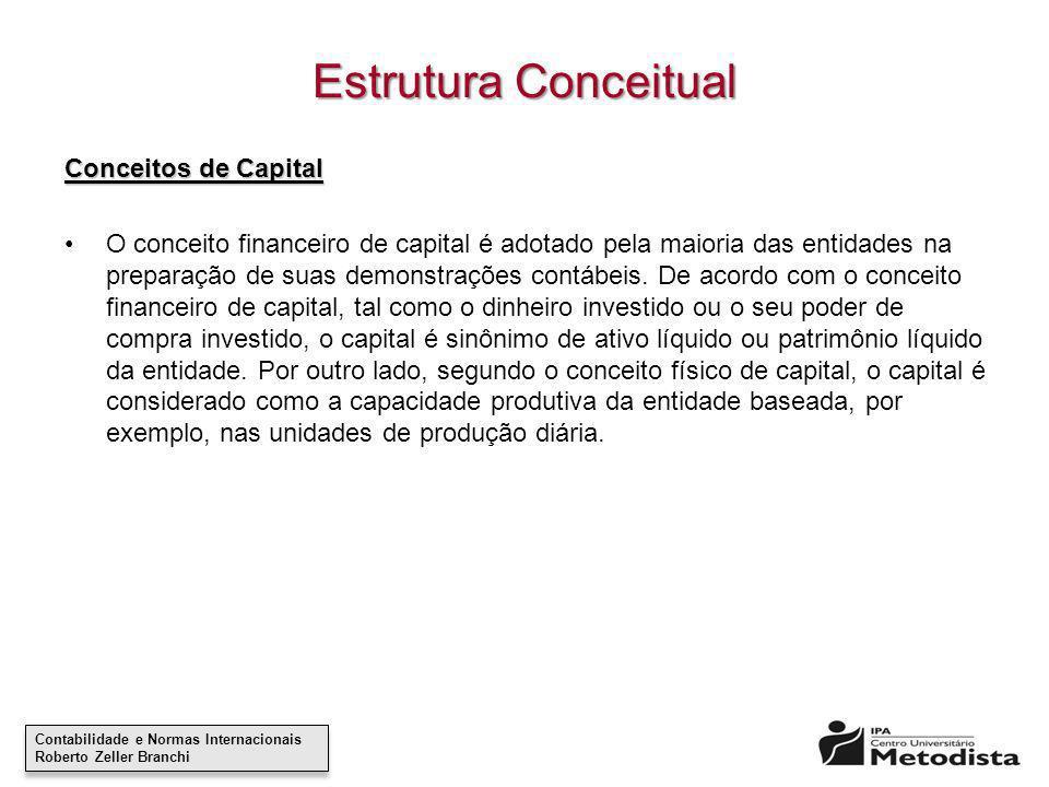 Contabilidade e Normas Internacionais Roberto Zeller Branchi Contabilidade e Normas Internacionais Roberto Zeller Branchi Estrutura Conceitual Conceit