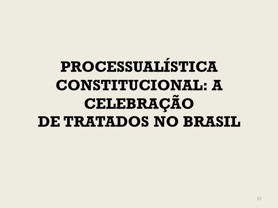 PROCESSUALÍSTICA CONSTITUCIONAL: A CELEBRAÇÃO DE TRATADOS NO BRASIL 15