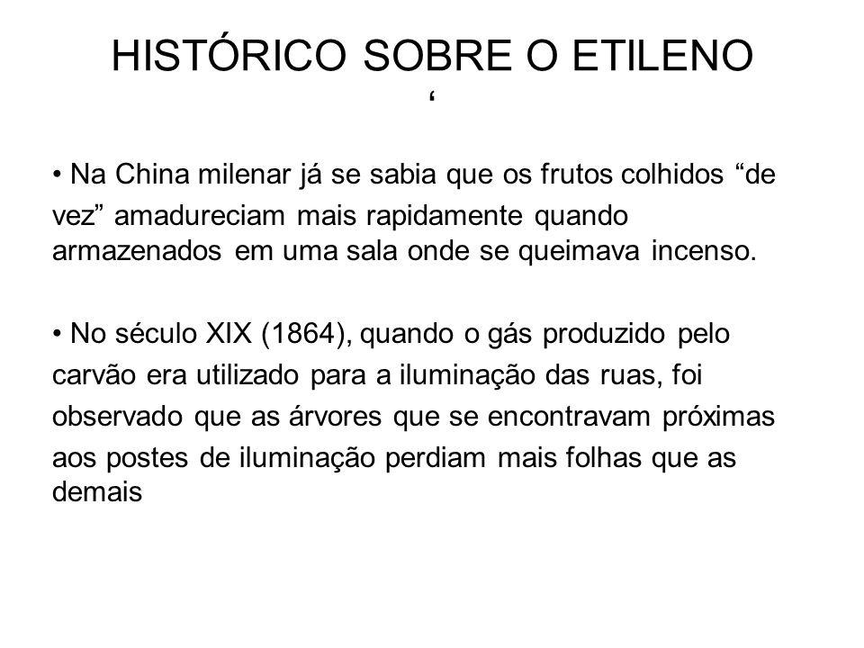 NELJUBOW em 1901 demonstrou que: 1.O ETILENO era o componente ativo do gás para iluminação; 2.
