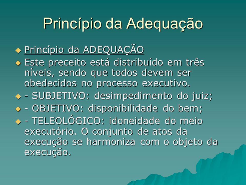 Princípio da Adequação Princípio da ADEQUAÇÃO Princípio da ADEQUAÇÃO Este preceito está distribuído em três níveis, sendo que todos devem ser obedecid