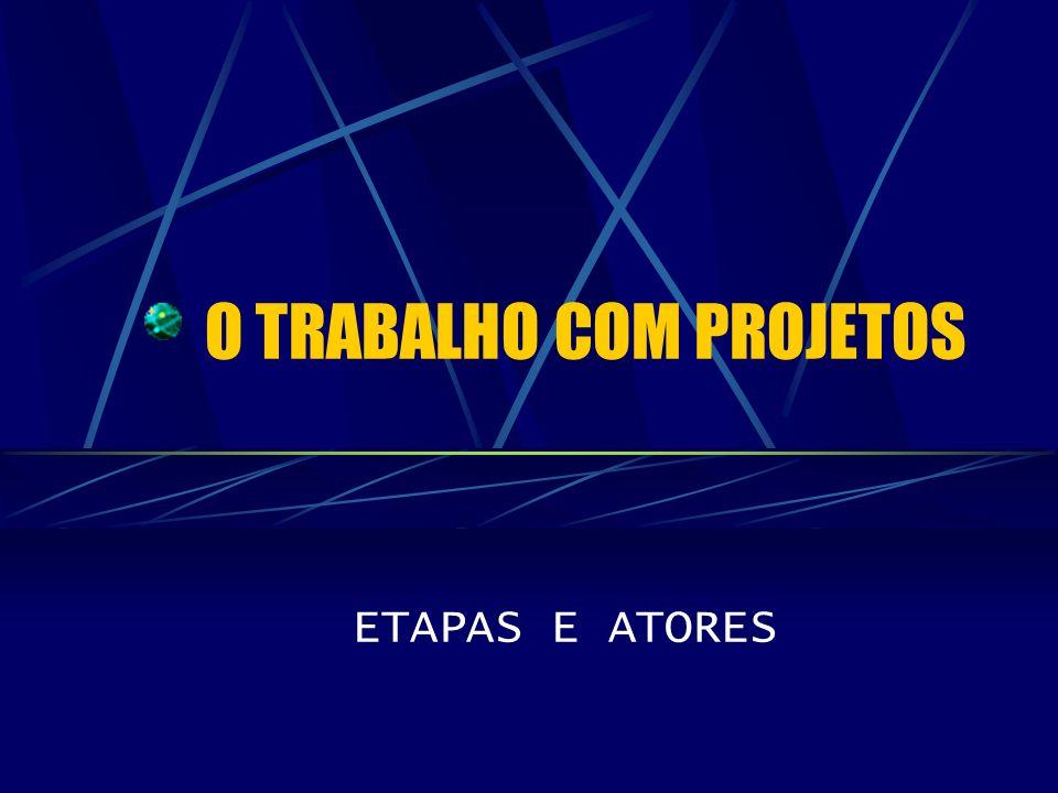 O TRABALHO COM PROJETOS ETAPAS E ATORES