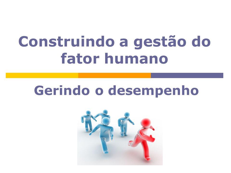 Gerindo o desempenho Construindo a gestão do fator humano