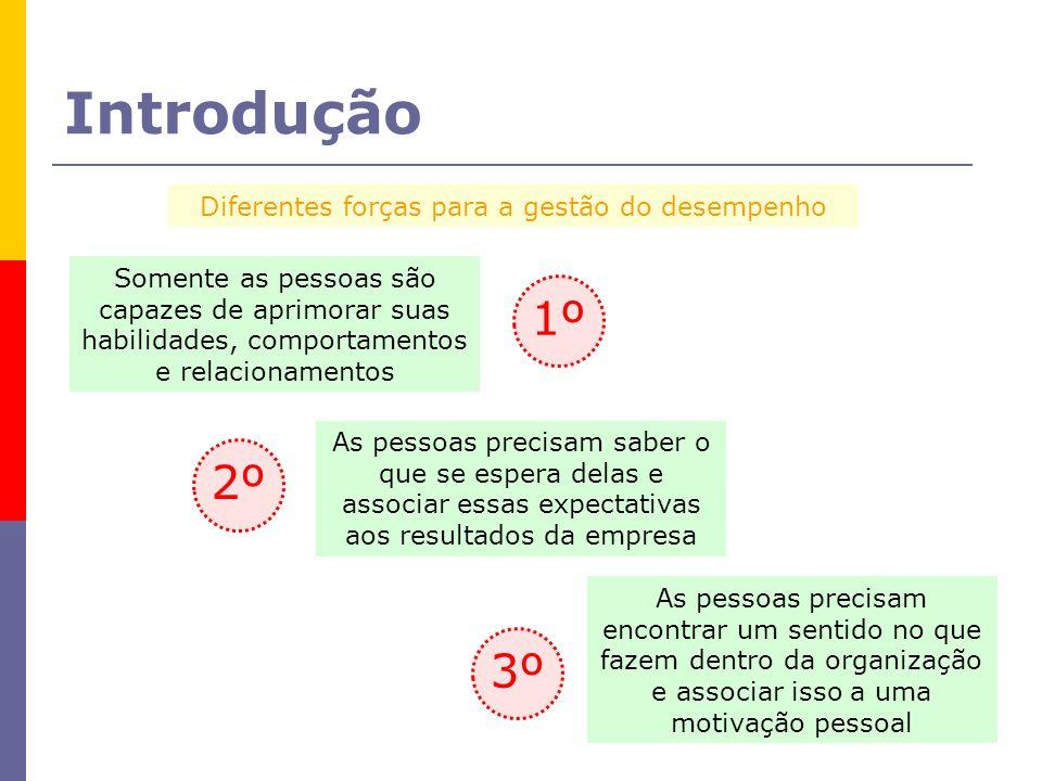 Dimensões importantes para a gestão do desempenho 3 dimensões Expectativas RecursosMotivação SaberPoderQuerer A pessoa sabe o que é esperado como resultado do seu trabalho.
