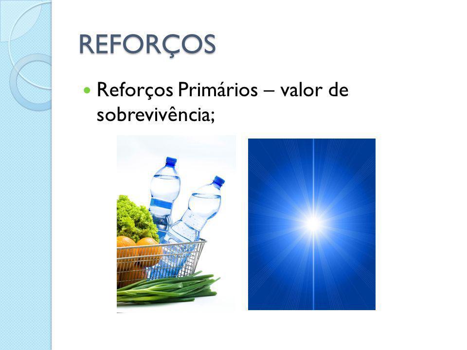REFORÇOS Reforços Primários – valor de sobrevivência;