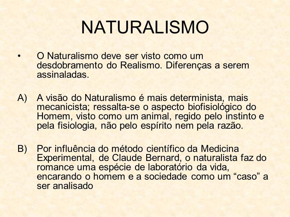 NATURALISMO O Naturalismo deve ser visto como um desdobramento do Realismo.