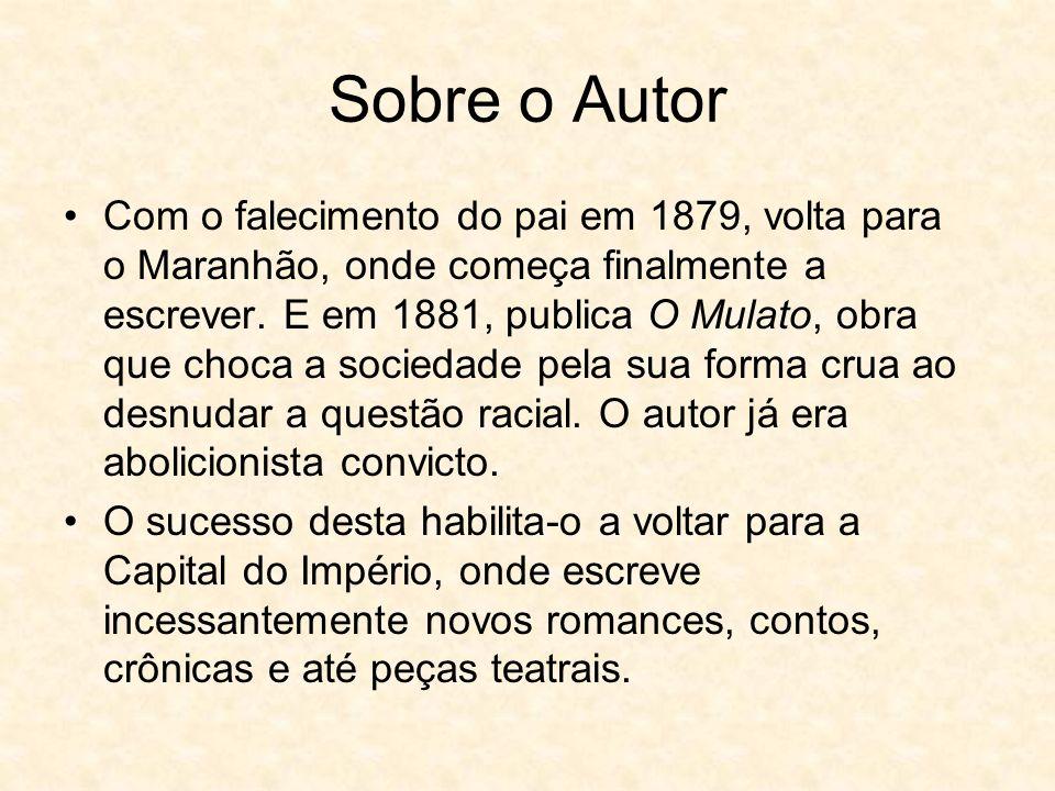 Sobre o Autor Com o falecimento do pai em 1879, volta para o Maranhão, onde começa finalmente a escrever.