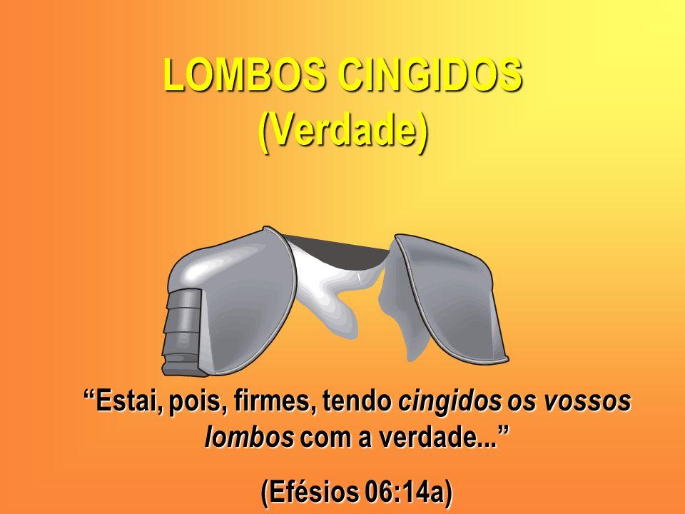 LOMBOS CINGIDOS (Verdade) Estai, pois, firmes, tendo cingidos os vossos lombos com a verdade... (Efésios 06:14a)