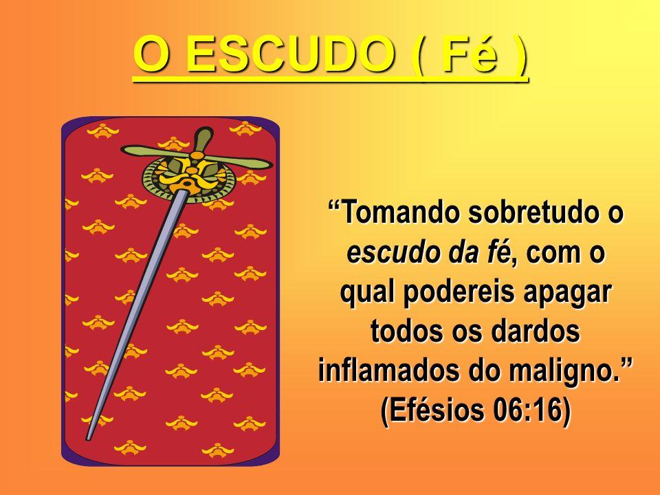 O ESCUDO ( Fé ) Tomando sobretudo o escudo da fé, com o qual podereis apagar todos os dardos inflamados do maligno. (Efésios 06:16)