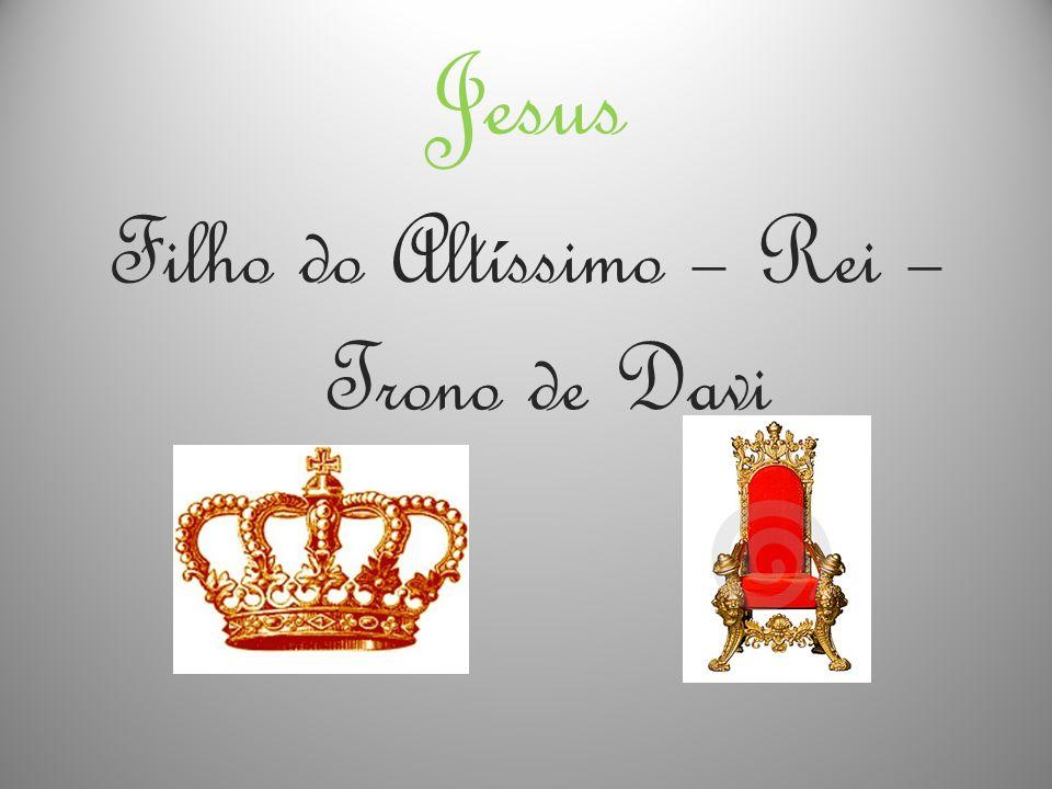 Jesus Filho do Altíssimo – Rei – Trono de Davi