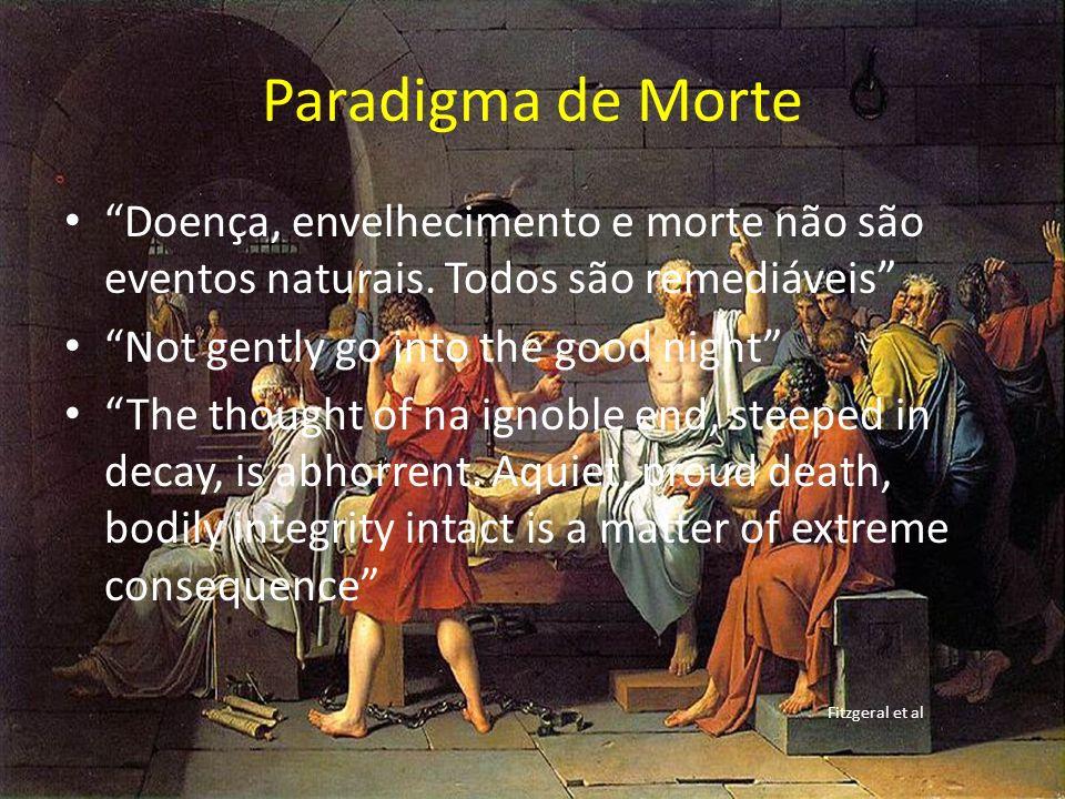 Paradigma de Morte Doença, envelhecimento e morte não são eventos naturais. Todos são remediáveis Not gently go into the good night The thought of na